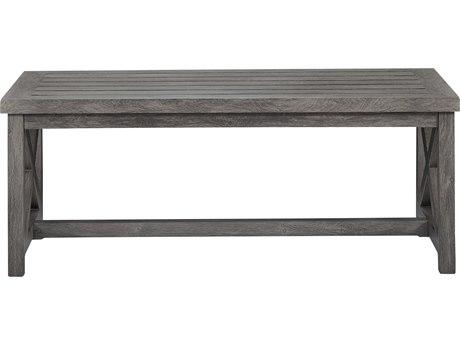 Lane Venture Mystic Harbor Wood Grain Aluminum 48''W x 24D Rectangular Coffee Table
