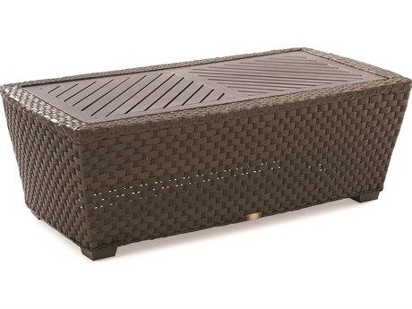 Lane Venture Leeward Godiva Wicker 48''W x 26''D Rectangular Coffee Table