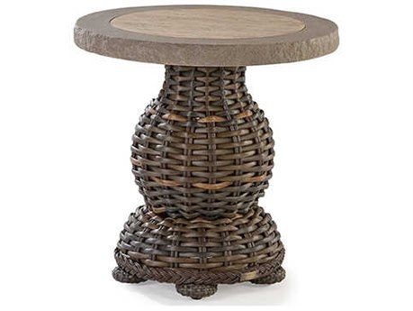 Lane Venture South Hampton Wicker 24''Wide Round End Table