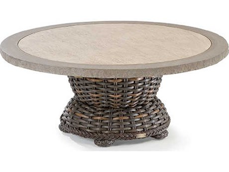 Lane Venture South Hampton Wicker 42''Wide Round Coffee Table