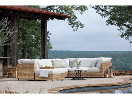 Lane Venture Campbell Wicker Sectional Lounge Set
