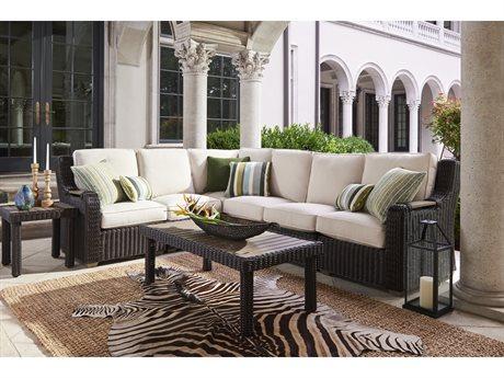 Lane Venture Ernest Hemingway Wicker Sectional Lounge Set LAVERNSTHWCAYSECLNGSET