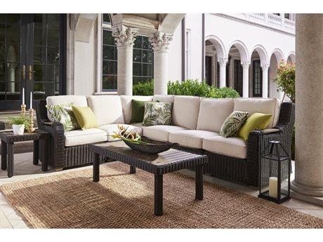 Lane Venture Ernest Hemingway Wicker Sectional Lounge Set LAVERNSTHWCAYSECLNGSET2