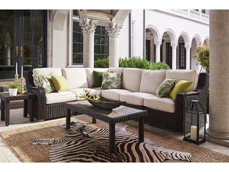 Lane Venture Ernest Hemingway Wicker Sectional Lounge Set LAVERNSTHWCAYSECLNGSET3