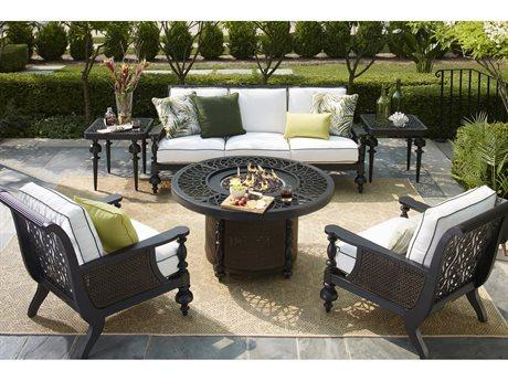 Lane Venture Hemingway Plantation Cast Aluminum Fire Pit Lounge Set