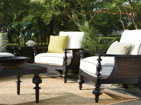 Lane Venture Hemingway Plantation Cast Aluminum Conversation Patio Lounge Set