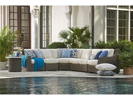 Lane Venture Oasis Wicker Sectional Lounge Set