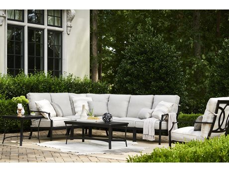 Lane Venture Raleigh Aluminum Sectional Lounge Set