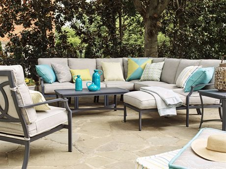 Lane Venture Raleigh Cast Aluminum Sectional Lounge Set