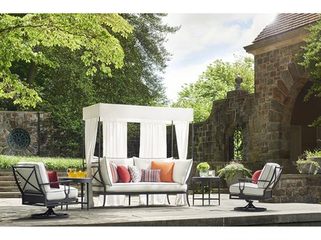 Lane Venture Winterthur Estate Aluminum Daybed Lounge Set
