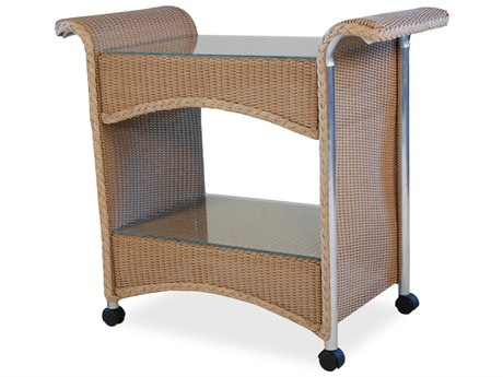 Lloyd Flanders Wicker Serving Cart LF1045