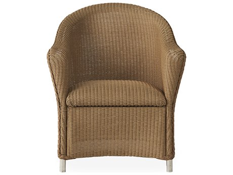 Lloyd Flanders Reflections Wicker Dining Arm Chair with Padded Seat