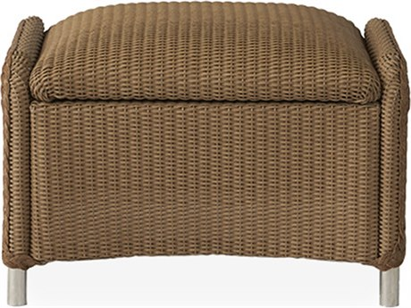Lloyd Flanders Reflections Wicker Ottoman with Padded Seat