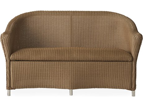 Lloyd Flanders Reflections Wicker Loveseat with Padded Seat