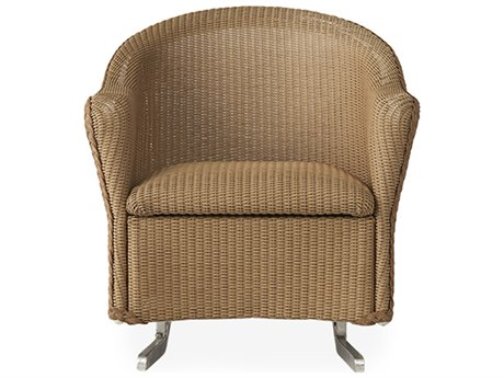 Lloyd Flanders Reflections Wicker Spring Rocker Lounge Chair with Padded Seat