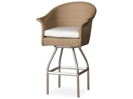 Lloyd Flanders All Seasons Wicker Swivel Bar Stool PatioLiving