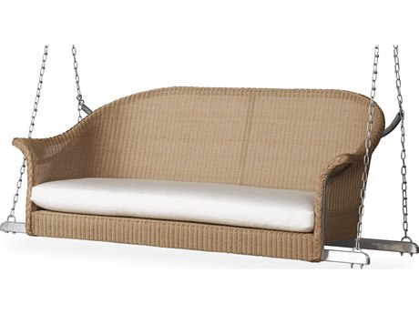 Lloyd Flanders All Seasons Wicker Loveseat Swing PatioLiving