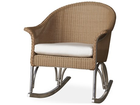 Lloyd Flanders All Seasons Wicker Rocker Lounge Chair PatioLiving