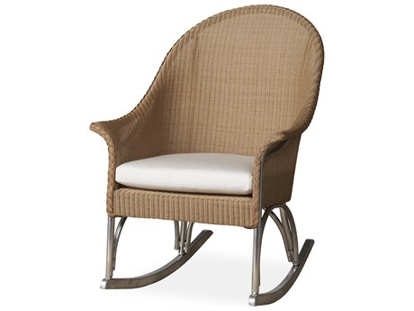 Lloyd Flanders All Seasons Wicker High Back Porch Rocker PatioLiving