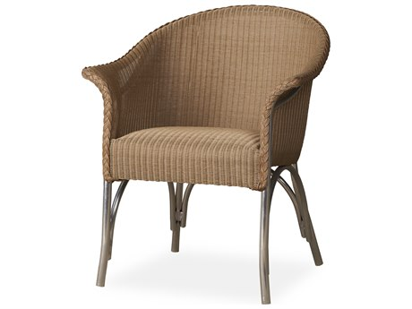 Lloyd Flanders All Seasons Wicker Dining Armchair with Padded Seat PatioLiving