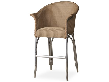 Lloyd Flanders All Seasons Wicker Bar Stool with Padded Seat PatioLiving