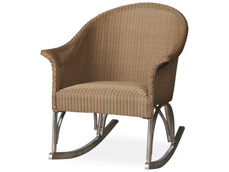 Lloyd Flanders All Seasons Wicker Lounge Rocker with Padded Seat PatioLiving