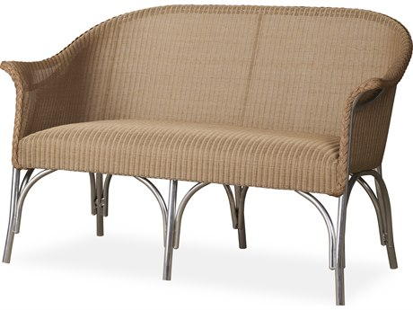 Lloyd Flanders All Seasons Wicker Loveseat with Padded Seat PatioLiving