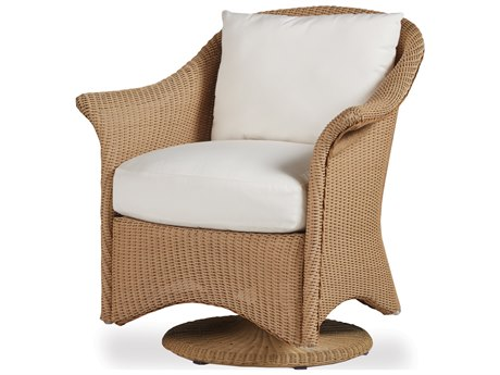 Lloyd Flanders Generations Wicker Swivel Rocker Dining Chair