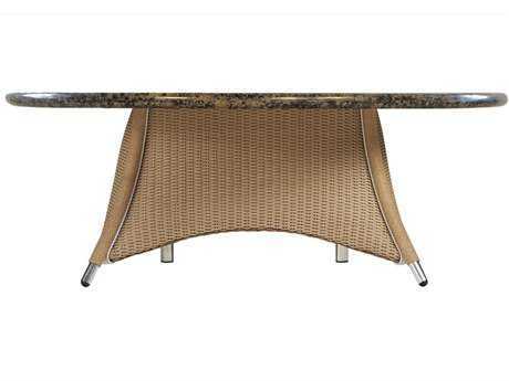 Lloyd Flanders Generations Wicker 48'' Round Conversation Table with Stone Top