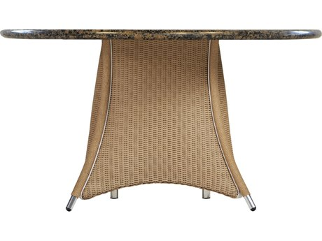 Lloyd Flanders Generations Wicker 48'' Round Dining Table with Stone Top