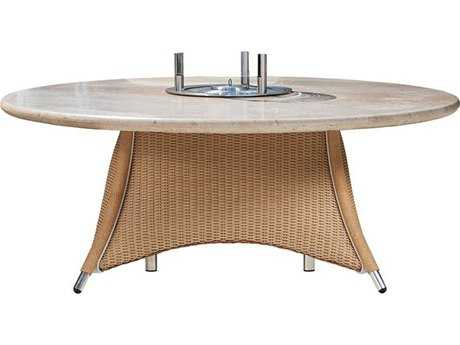 Lloyd Flanders Generations Wicker 48'' Round Conversation Table with EcoSmart Table