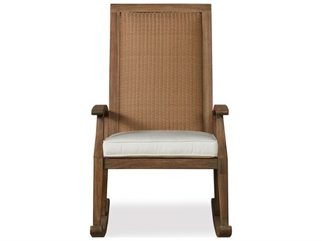 Lloyd Flanders Wildwood Teak High Back Rocker