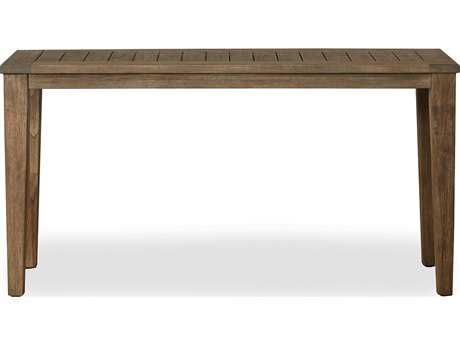 Lloyd Flanders Wildwood Teak 58 Rectangular Tapered Leg Console Table
