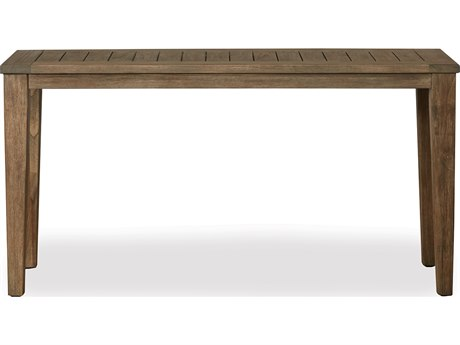 Lloyd Flanders Wildwood Teak 58 Rectangular Tapered Leg Console Table LF135049
