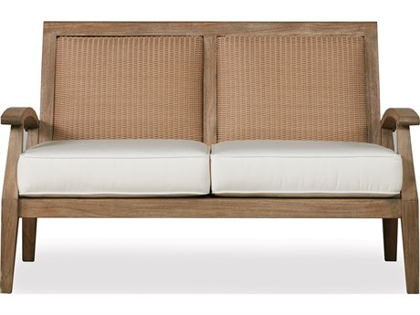 Lloyd Flanders Wildwood Teak Loveseat PatioLiving