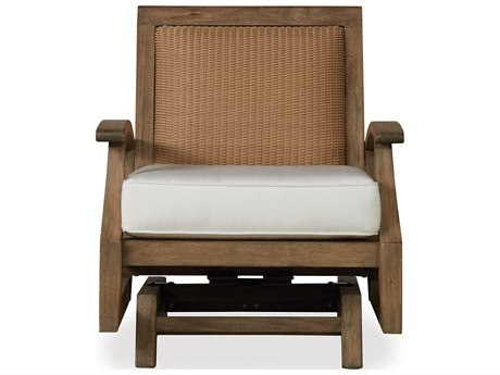 Lloyd Flanders Wildwood Teak Spring Rocker Lounge Chair