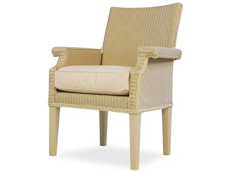 Lloyd Flanders Hamptons Wicker Arm Dining Chair