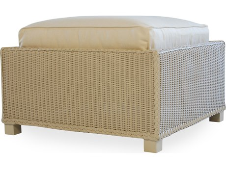 Lloyd Flanders Hamptons Wicker Ottoman