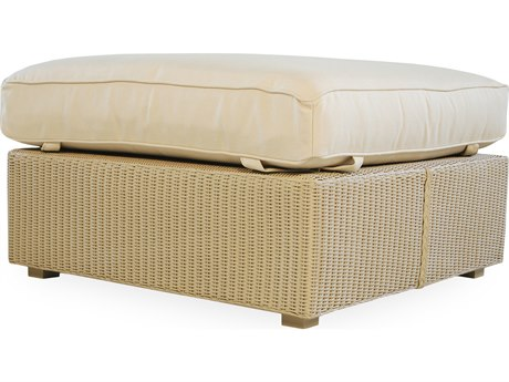 Lloyd Flanders Hamptons Wicker Large Ottoman