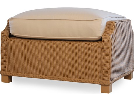 Lloyd Flanders Hamptons Wicker Deep Ottoman