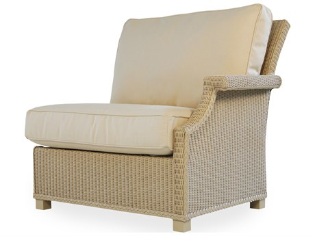 Lloyd Flanders Hamptons Wicker Left Arm Lounge Chair