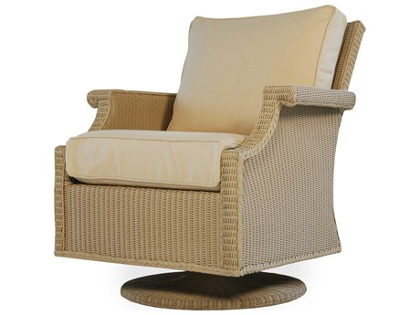 Lloyd Flanders Hamptons Wicker Swivel Rocker Lounge Chair