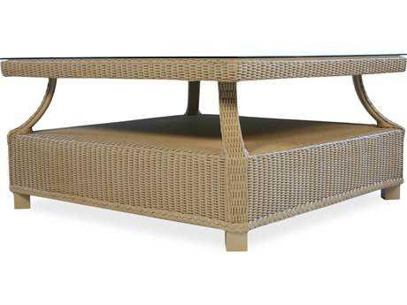 Lloyd Flanders Hamptons Wicker 37'' Square Coffee Table