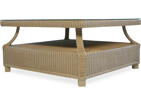 Lloyd Flanders Hamptons Wicker 37'' Square Coffee Table