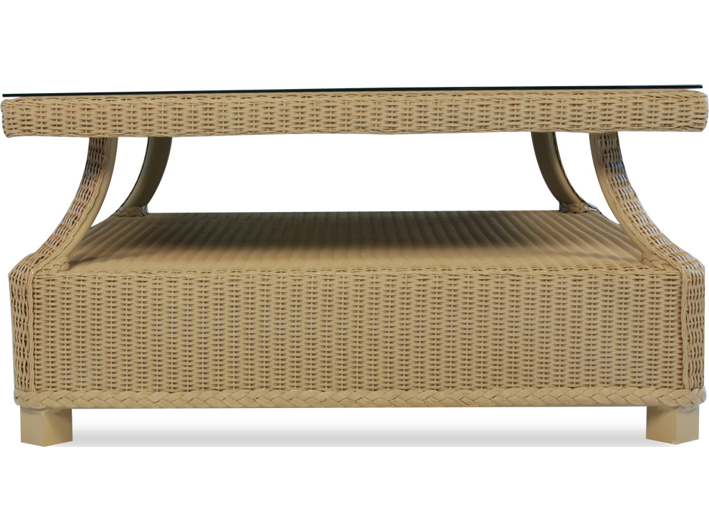 Lloyd Flanders Hamptons Wicker 37 39 39 Square Coffee Table Lf15944