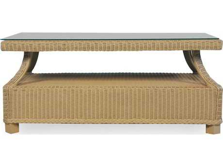 Lloyd Flanders Hamptons Wicker 42.5'' x 24.5'' Rectangular Coffee Table