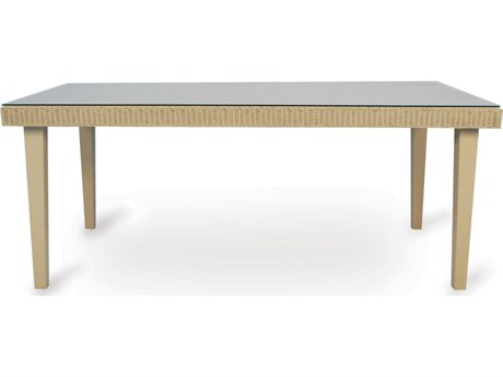 Lloyd Flanders Hamptons Wicker 72''W x 42''D Rectangular Dining Table PatioLiving