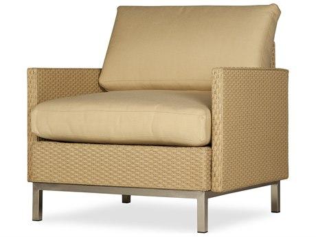 Lloyd Flanders Elements Steel Wicker Lounge Chair PatioLiving