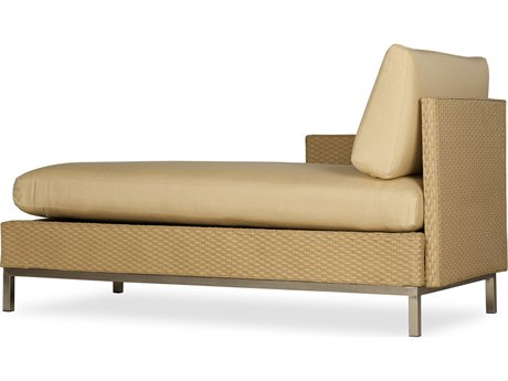 Lloyd Flanders Elements Steel Wicker Right Arm Chaise Lounge PatioLiving