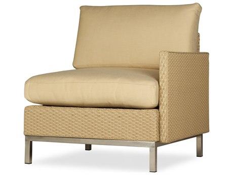 Lloyd Flanders Elements Steel Wicker Left Arm Lounge Chair